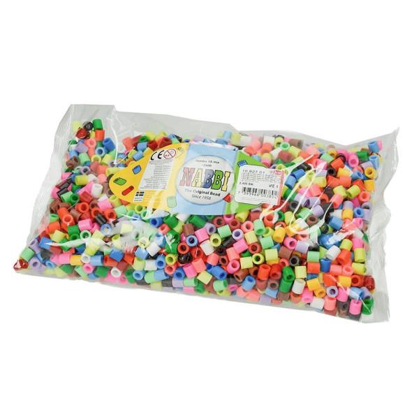 Nabbi®Jumbo Beads -Bügelperlen Ø 10mm, 2.400 Stk., 15 Farben Mix
