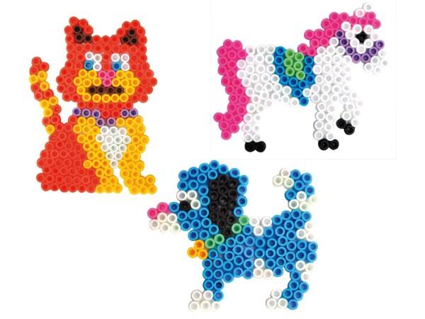 Playbox Stiftplatten-Set Haustiere transparent für XL-Perlen
