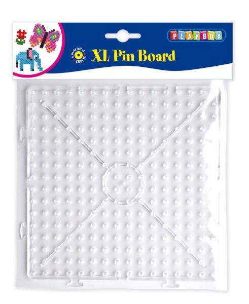 Playbox Stiftplatte Quadrat transparent für XL-Bügelperlen
