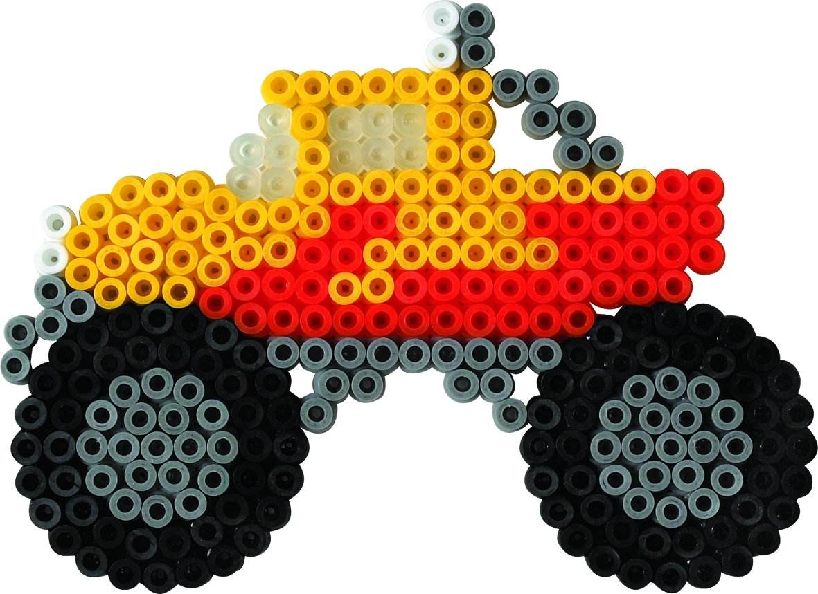 Hama Monstertruck Bügelperlenbild Vorlagen Bügelperlennet