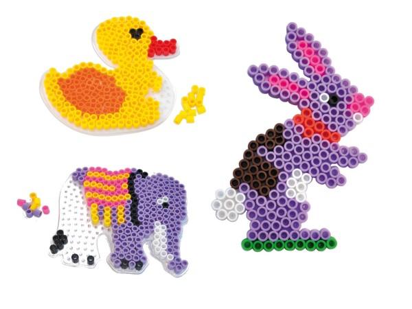 Playbox Stiftplatten-Set Tiere transparent für XL-Perlen