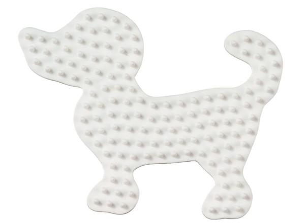 Hama Stiftplatte Kleiner Hund weiß