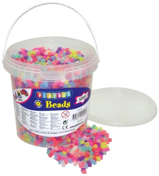Playbox Dose 5000 Stück Midi Perlen Glitzer