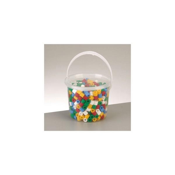 Nabbi® Jumbo Beads -Bügelperle im Eimer, Ø 10mm 550 Stk.,Standard Mix