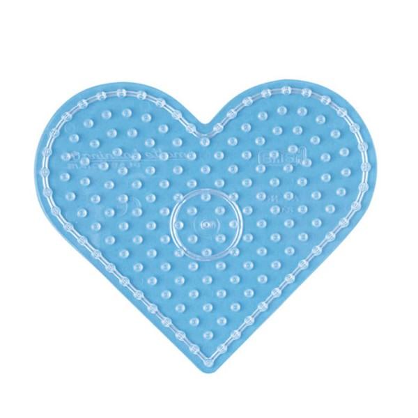Hama Stiftplatte Herz transparent für Maxi-Bügelperlen